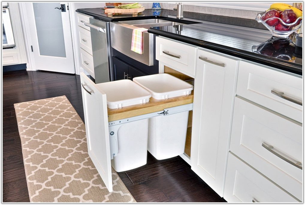 Kitchen Cabinet With Trash Can