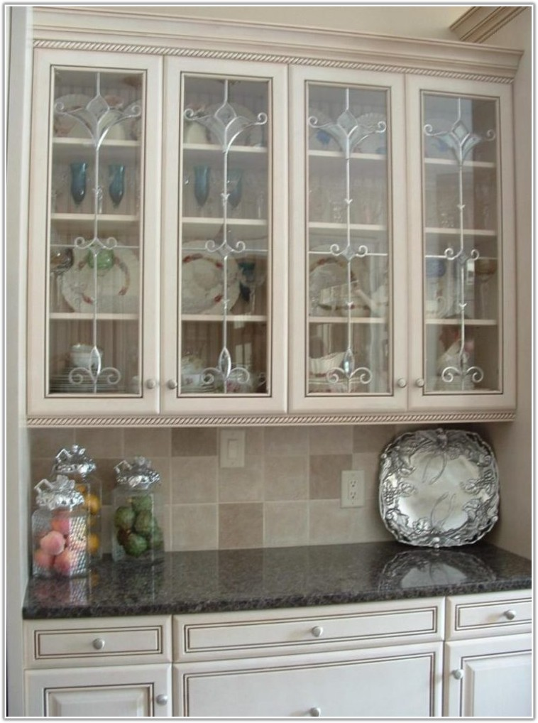 Kitchen Cabinets With Stained Glass Inserts