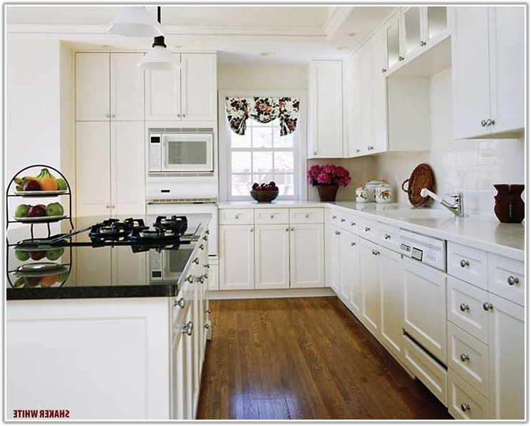 Kitchen With White Shaker Style Cabinets