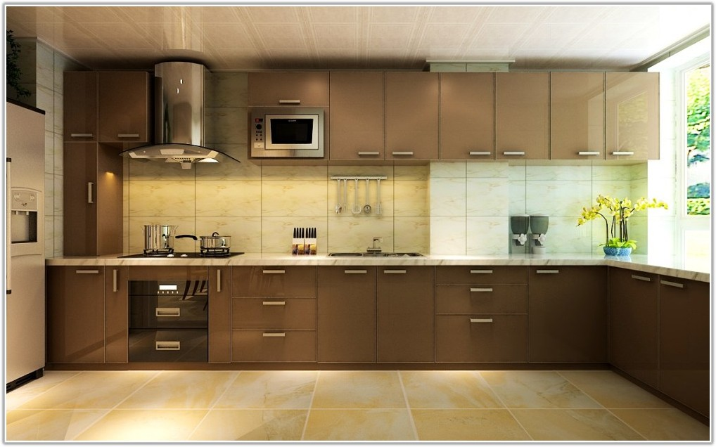 L Shaped Kitchen Cabinets Photos