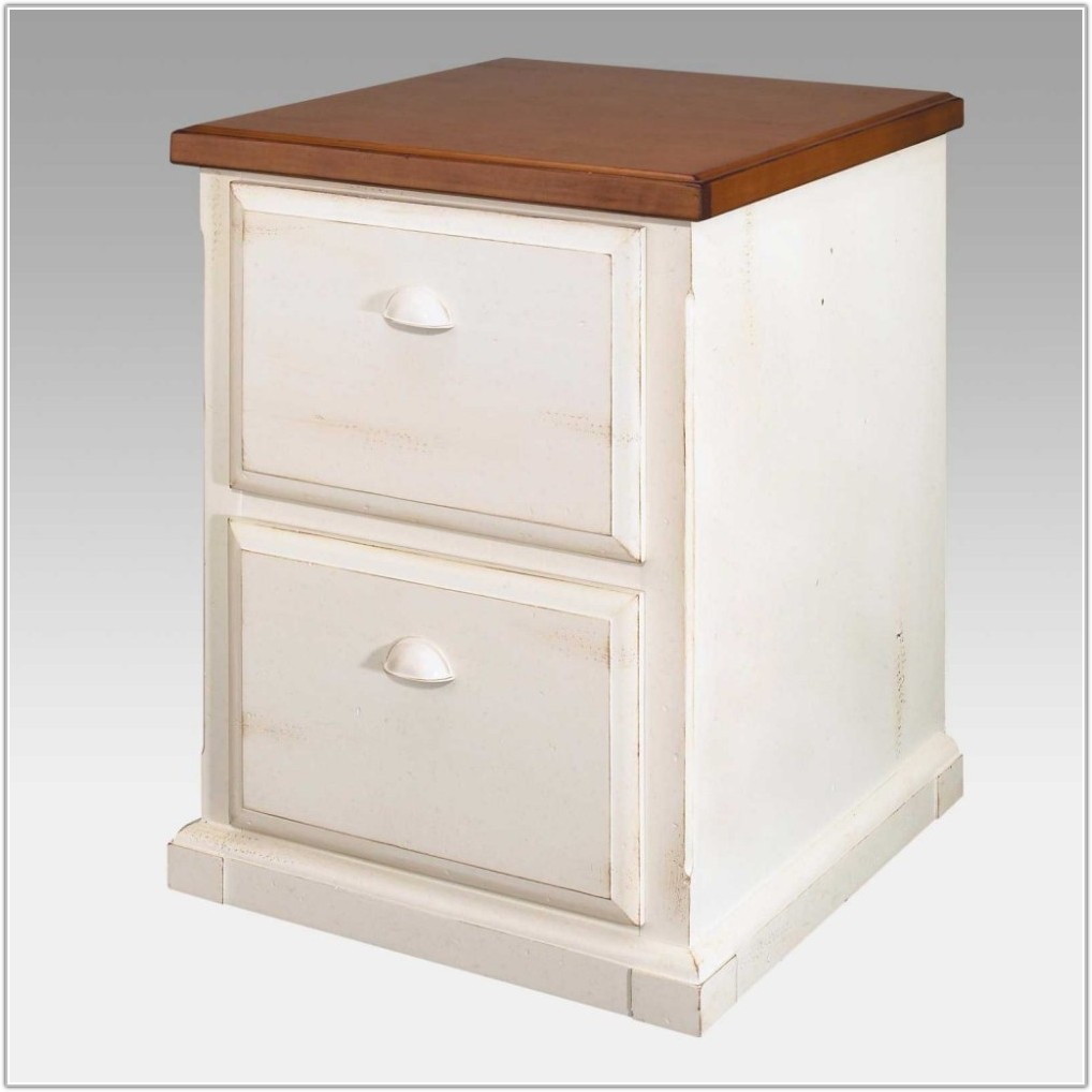 Lateral File Cabinet White 2 Drawer