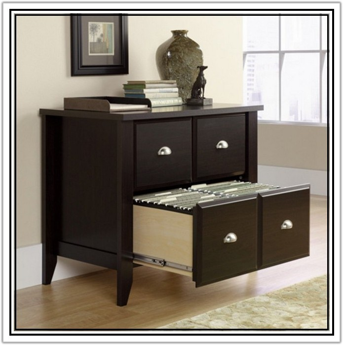 Lateral Wood File Cabinet With Lock
