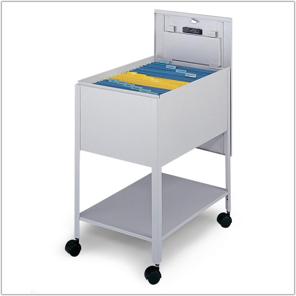 Mobile File Cabinet With Lock