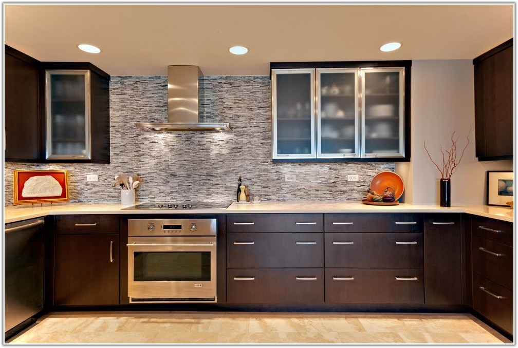 Modern Frosted Glass Kitchen Cabinet Doors
