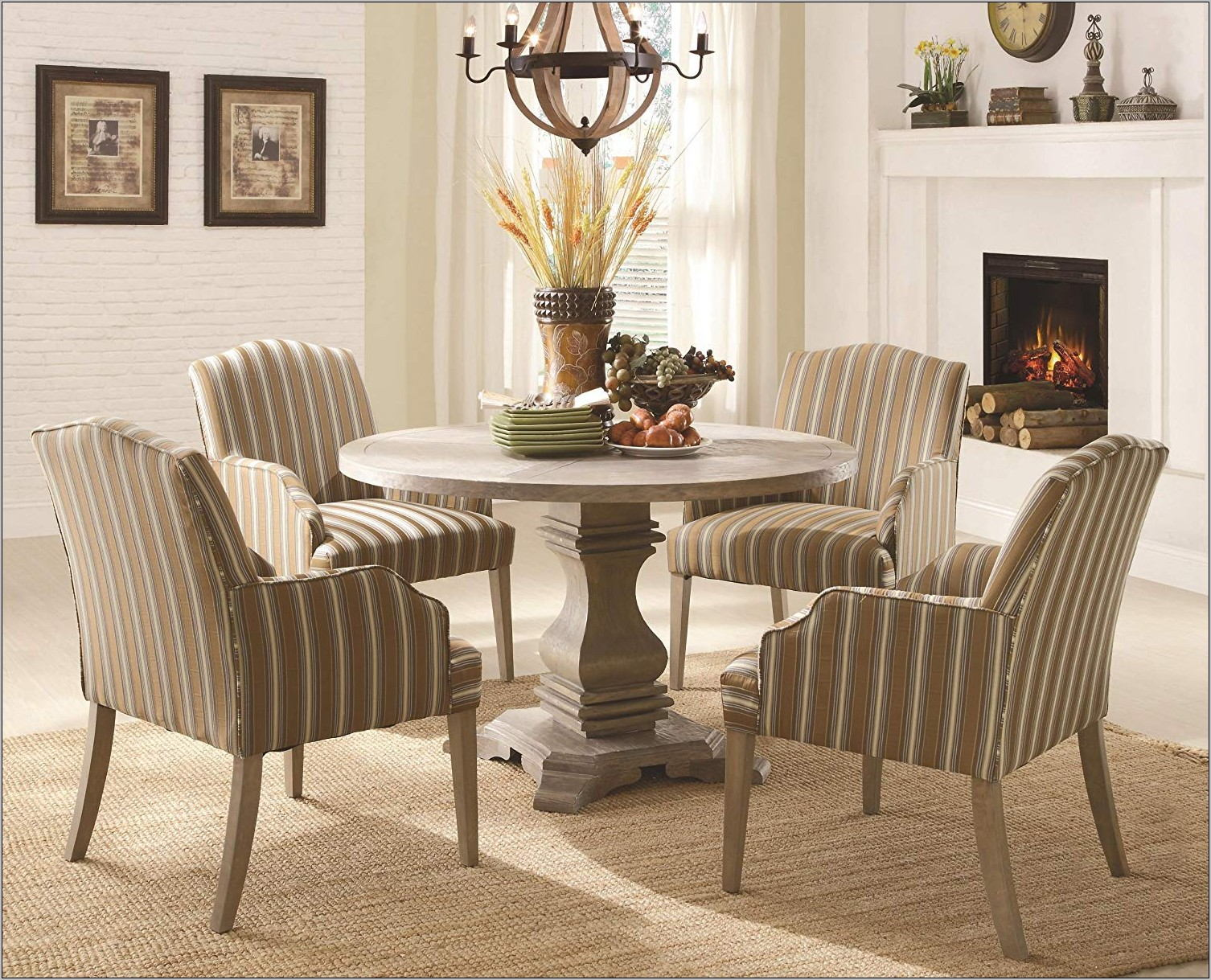 5 Piece Round Dining Room Set